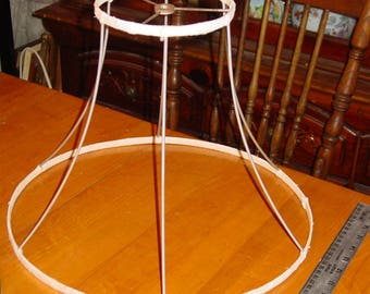 "Vintage Lampshade Frame Bell Shape Spider connection to lamp harp 11"" tall"