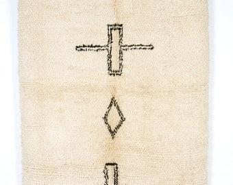 Berber Cross - Genuine Beni Ouarain rug