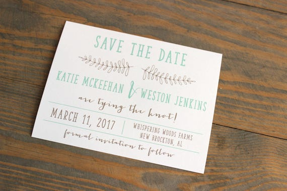 Printable Rustic Save the Date, vintage save the date, save the date, kraft save the date, save the date, craft save the date