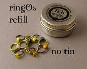 ringOs REFILL Limited Edition - Grellow - Snag-Free Ring Stitch Markers for Knitting