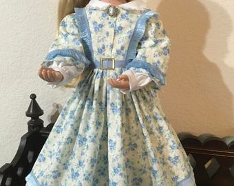 Civil War Style Dress for 16 inch Doll