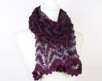 Knitting Shawl,Purple,Gray, Black,Perfect for winter,