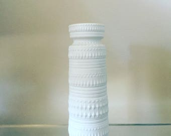 SOLD West German Pottery White Bisque Vase