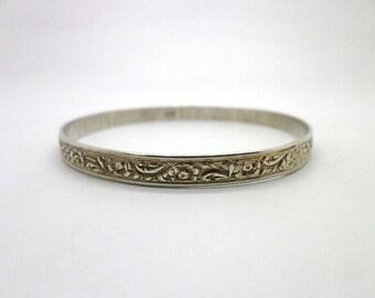 Bangle Bracelet Vintage Sterling Silver Danecraft