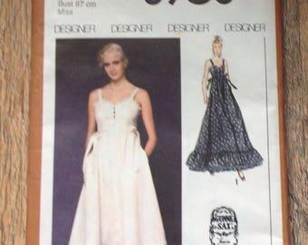 Vintage 1980's Dress Pattern ,Simplicity Dress making Pattern size 12