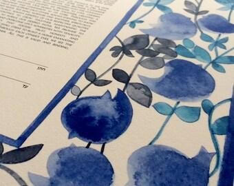 I am my beloved Ketubah art print - Watercolor ketubah Song of Songs שיר השירים Aσμα Aσμάτων - BELOVED GARDEN