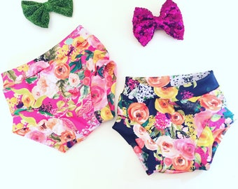 Beach Blooms Bummies, Shorts, Bloomers  Pink or Purple