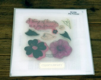 Close to My Heart Acrylic Stamp Set Joy Forever B1296