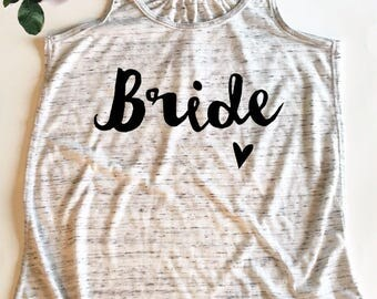 Wedding Party Tank Top for the Bride