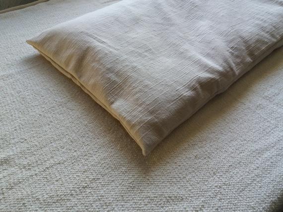 Bench cushion white cream natural seating pad buckwheat hulls