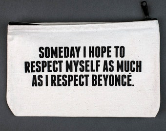 respect zipper pouch. #087