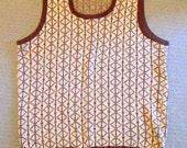 Vintage 1970's men's sweater vest Titan 100% Acrylic Wintuk Orlon tan cream, men's clothing, sweater vest, diamond pattern, 2XL, size XXL