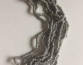RARE - Antique Metal  MICRO  Beads - Pewter  Color
