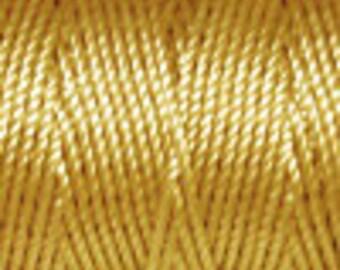 Light Maize Tex 400 C Lon Beading Cord, 39 yard spool C Lon Beading Cord, Kumihimo Beading Cord