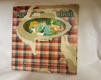 Walt Disney's Alice in Wonderland Vintage LP Record