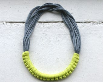 Lime and Grey Macy necklace