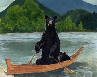 Bears and Boat Print — Abacus Corvus