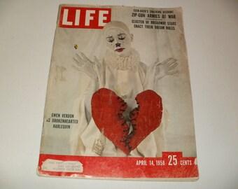 Vintage Life Magazine April 14 1958 - Gwen Verdon Cover - Scrapbooking, Retro, Collectible, Paper Ephemera