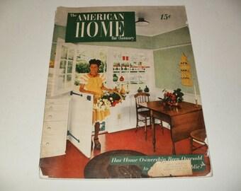 Vintage The American Home Magazine January 1947 - Retro Art Scrapbooking Paper Ephemera