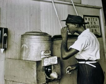Colored Water Cooler Oklahoma City 1939