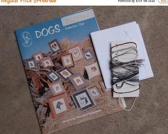 SALE SALE SALE Vintage Cross Stitch Kit Schnauzer Dog Stitchery Do It Yourself Pet Portrait Collection Supplies German Shepherd Golden Retri