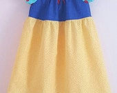 Size 12-18 Months SNOW WHITE Inspired Peasant Princess Dress Girls