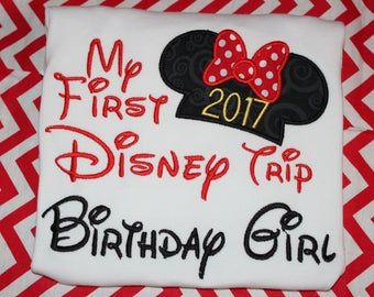 My First Disney trip birthday girl shirt or ruffle dress- boy or girl version