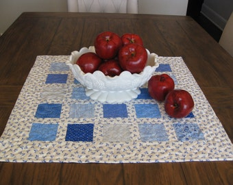 The Blues Quilted Table Topper