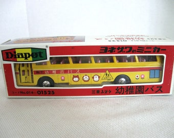 Diapet B-35 Scale Model 1/60 Yellow Mitsubishi Fuso Bus - Yonezawa Toys - Made in Japan