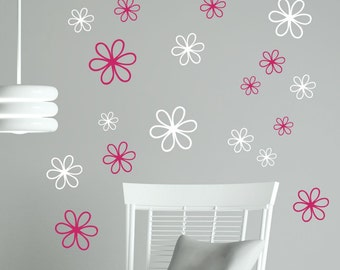 Pocket full of Posies Wall Stickers Vinyl Flower Decals Girls Room