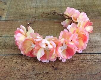 Starfish Floral Head Wreath,Beach Bridal Head Wreath,Mermaid Crown,Starfish Hair Crown,Music Festival Head Wreath,Nautical Bride,Beach Bride