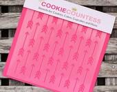 Arrow Cookie Stencil, Arrow Sugar Cookie Stencil, Arrow Fondant Stencil, Cookie Countess Cookie Stencil, Arrow Stencil
