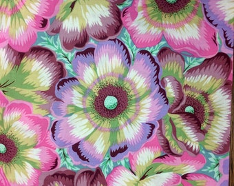 Philip Jacobs Waltzing Matilda, pastel, kaffe Fassett collective, OOP, rare, vhtf floral fabric by the half yard, yardage available