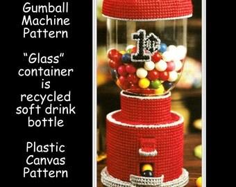 Gum Ball Machine Pattern - Plastic Canvas - Fun Toy - Pattern 01176424
