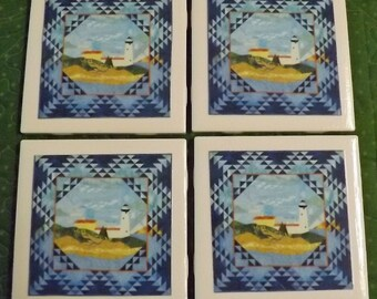 Ceramic Tile Coasters Quilt Images