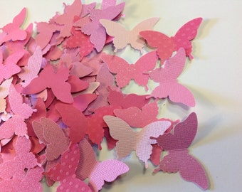 Valentines Pinks 75  pc Paper Butterflies Wedding Table Decorations Reception