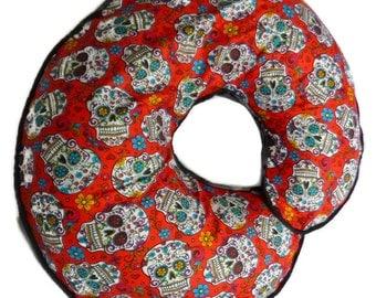 Red Sugar Skulls Boppy Nursing Pillow Cover - Fits Boppy Pillows