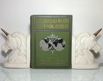 Antique (c) 1899 The Marvelous Record of the Closing Century, The Achievements of One Hundred Years by Charles Morris, LL.D. HC History Book