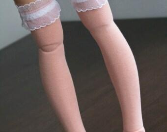 Pair of overknee socks for SD super dollfie feeple Volks Bluefairy Line Fairyland Luts Dollzone