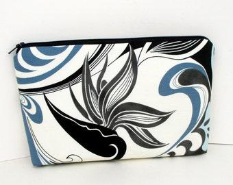 Zippered Make Up Bag, Tropical Bird of Paradise, Hawaii Cosmetic Zipper Pouch