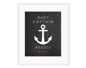 Ahoy Captain - Customized Print