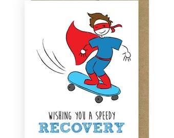 Strong Kid Cancer Card, Super Hero Skateboard Kid Cancer Card