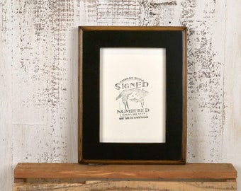 "5x7"" Picture Frame in 2-Tone Style with Vintage Black Finish - IN STOCK - Same Day Shipping - 5 x 7 Photo Frame Rustic Black"
