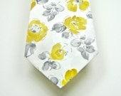 Mustard Neckties Yellow Neckties Mustard and Gray Neckties Mens Neckties Custom Neckties Mustard Cotton Neckties