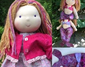 """Reserved for Nicole 2 Mermaid Tails 2 Mermaid tops for 16"""" Noble Waldorf Baby Doll"""