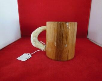 Oak Mug with Antler Handle lot 80