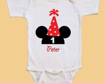 Mickey mouse Birthday shirt - Personalized birthday shirt -