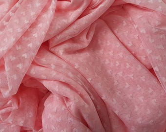 Fat Quarter Hearts Old Rose Lace fabric 1/4 mtr.