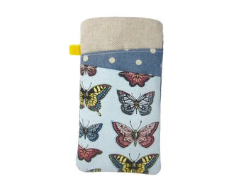 Butterfly Glasses Case, Mothers Day Gift, Reading Glasses Holder,  Soft Spectacle Case, Padded Glasses Pouch