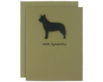 Australian Cattle Dog Sympathy Card 10 Pack or Single Card Dog Greeting Cards Dog Sympathy Cards Cattle Dog Handmade Greeting Cards